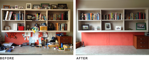 Optimal Organizing Before And After